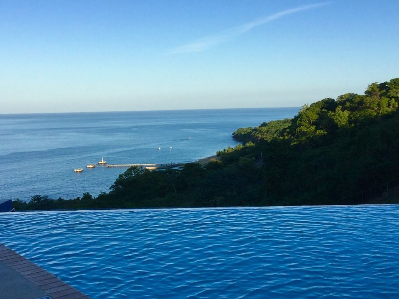 View of Crash Boat Beach from the Infinity pool.  Paraiso!