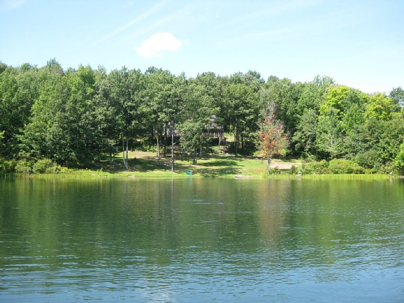 View of our property. Two (2) 14' row boats provided!