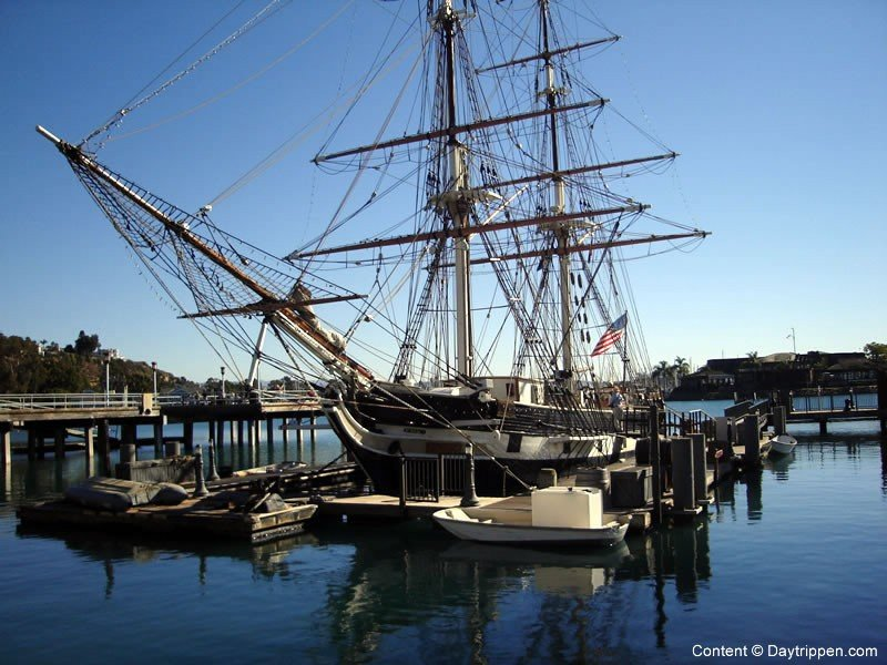 Walk to the 'Pilgrim' Tall Ship located at Baby Beach at the Harbor