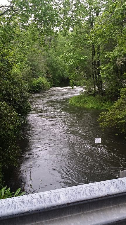 Horse pasture River, from the One Lane Bridge. Entrance to Whisper Lake