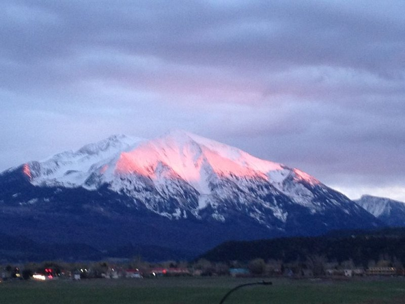 View of Mt. Sopris from living room