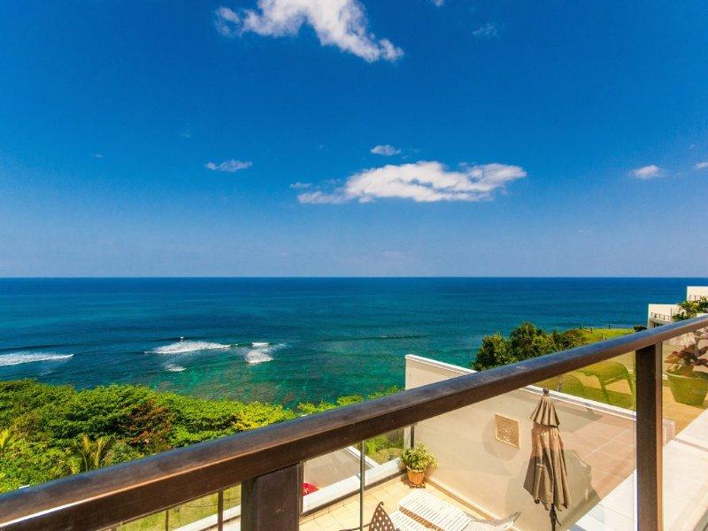 Pu'u Poa 406, A Spectacular Oceanfront Luxury Penthouse Condo, vacation rental in Princeville