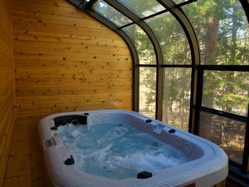 Private Jacuzzi In Unit overlooking the forest.
