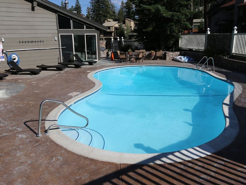 Large beautiful pool in the rec. area, gas bbq's and gas fire pit