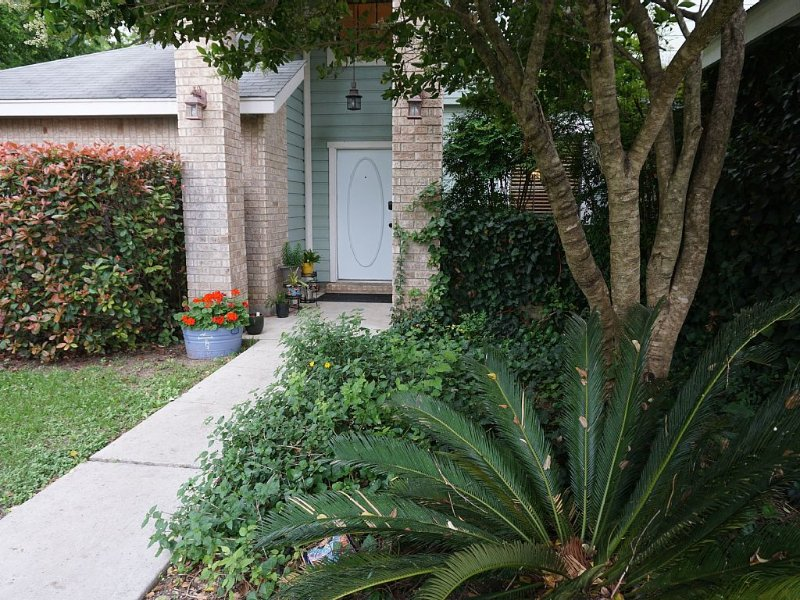 Front of house with beautiful landscaping