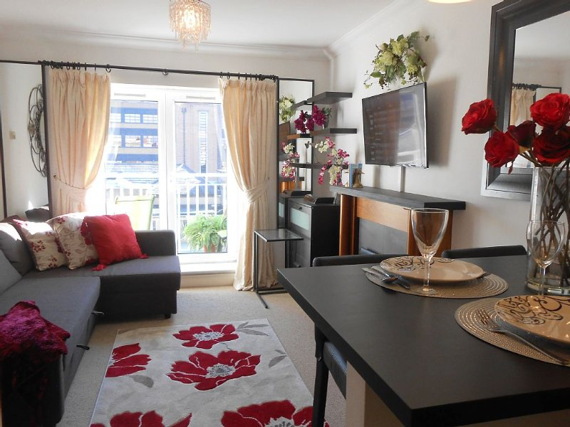 1 Bdrm, 6 MONTH MINIMUM - Heart of the City Elegance - DECORATOR FURNISHED, TV, vacation rental in Dublin