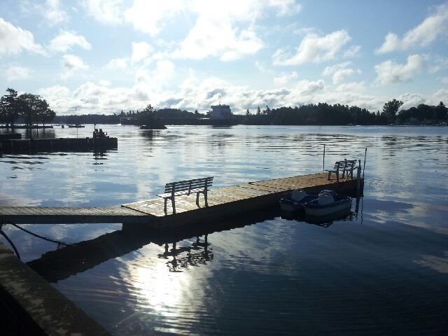 36' dock with a rowboat for the 2019 season. Go fishing or enjoy the islands!