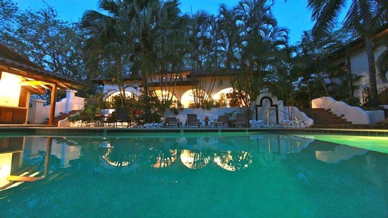 Pool looking at Villa