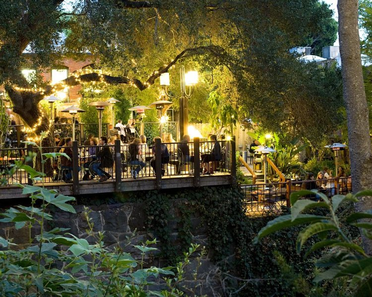 SLO's weather is perfect for outdoor dinning - this restaurant is a block away