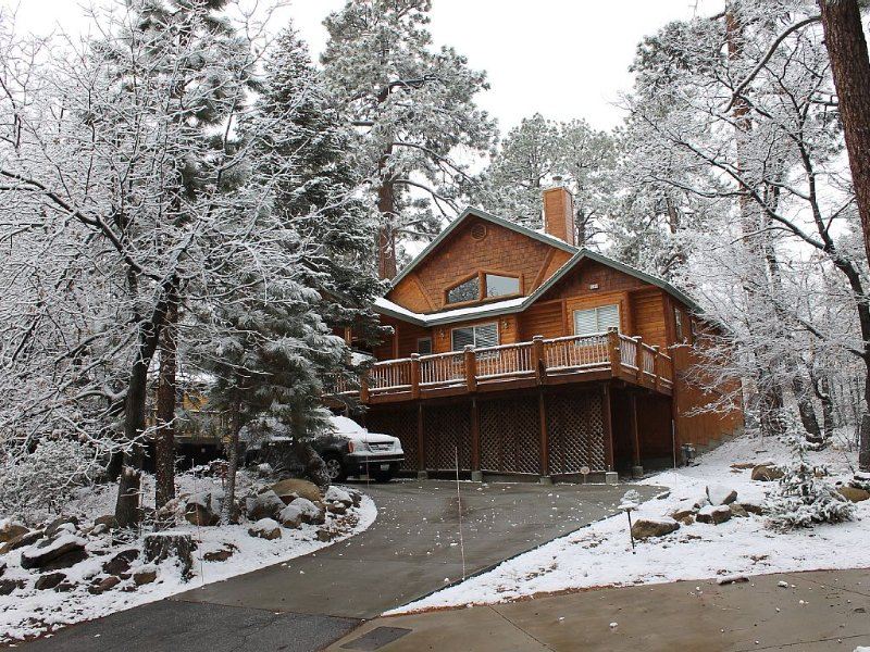 New Log Style Cabin Moonridge, 3bd, 3ba, Sleeps 9, Walk To Slopes, Ntl. Forest, location de vacances à Big Bear Lake
