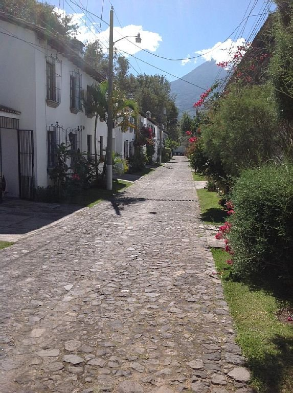 The cobblestone lane to our house, in a secure, gated community.