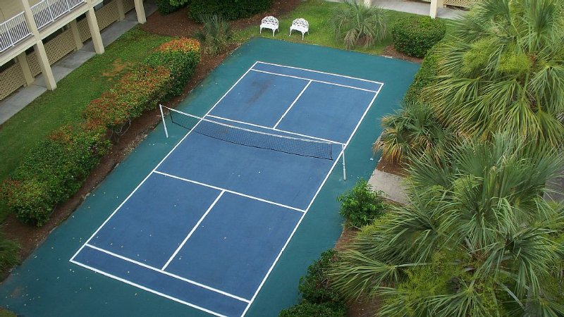 Newly resurfaced badminton court for your enjoyment