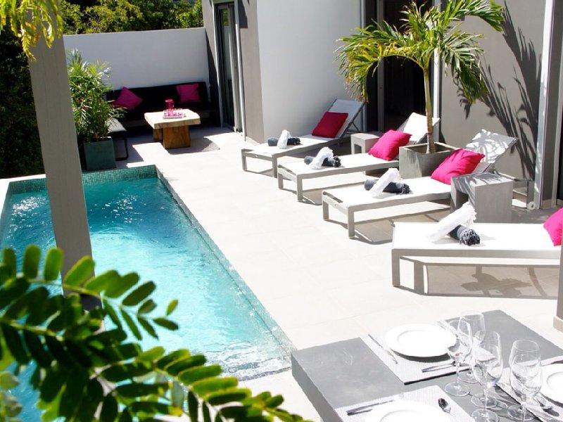 New contemporary villa, alquiler de vacaciones en Corossol