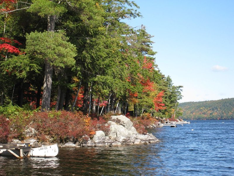 Fall view of Long Pond, north lake