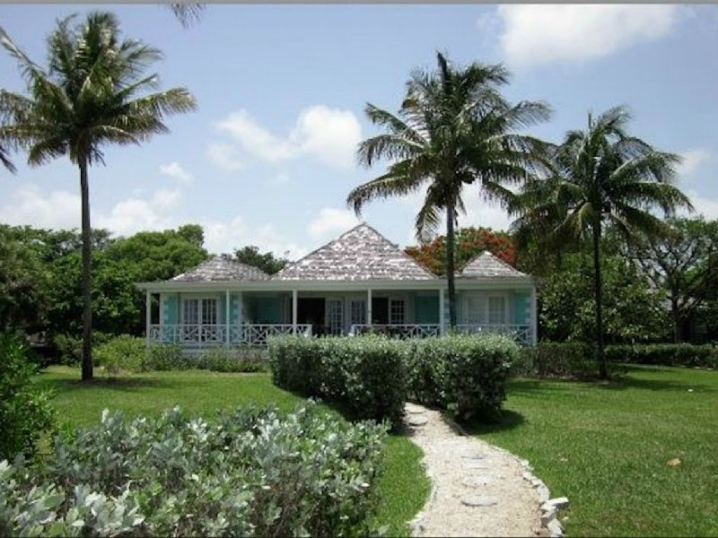 The Blue Inn Villa private path to your vacation escape.