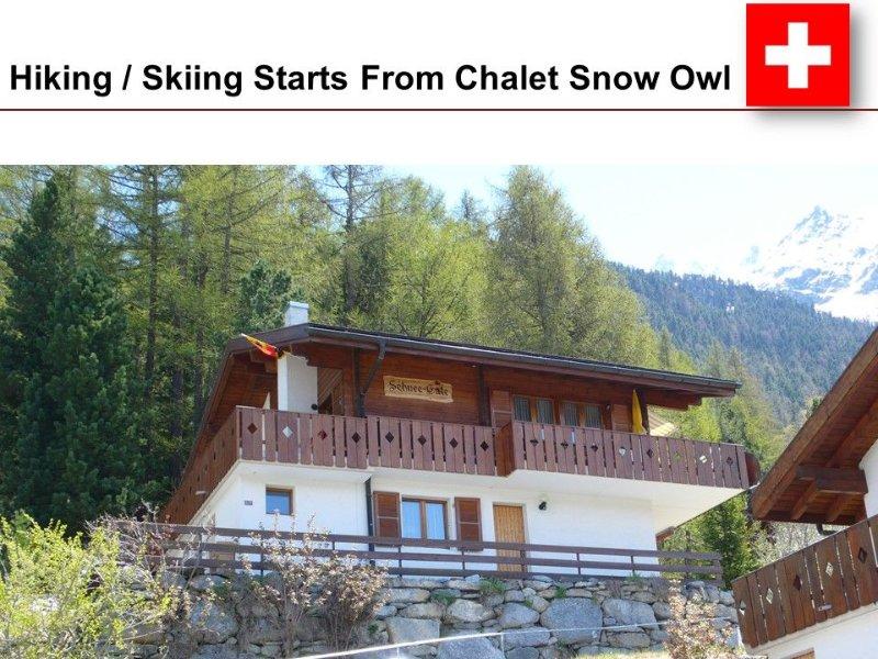 Beautiful Swiss Chalet with Mountain Views of the Alps - Near Zermatt, location de vacances à St. Niklaus