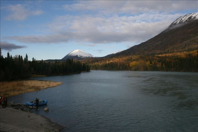 Upper Kenai River Boat Ramp staging area just up the road