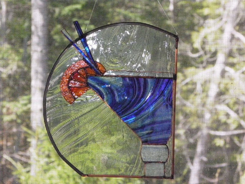 Stained glass blueberry martini. Cheers!