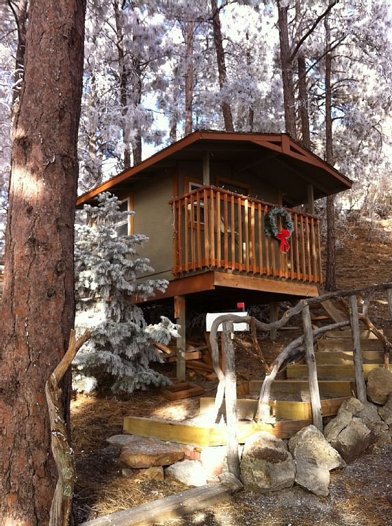 And last not but least . . .the kids will love the play house in the trees.