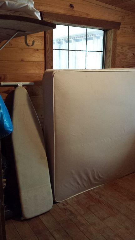 extra queen mattress in utility room to put anywhere
