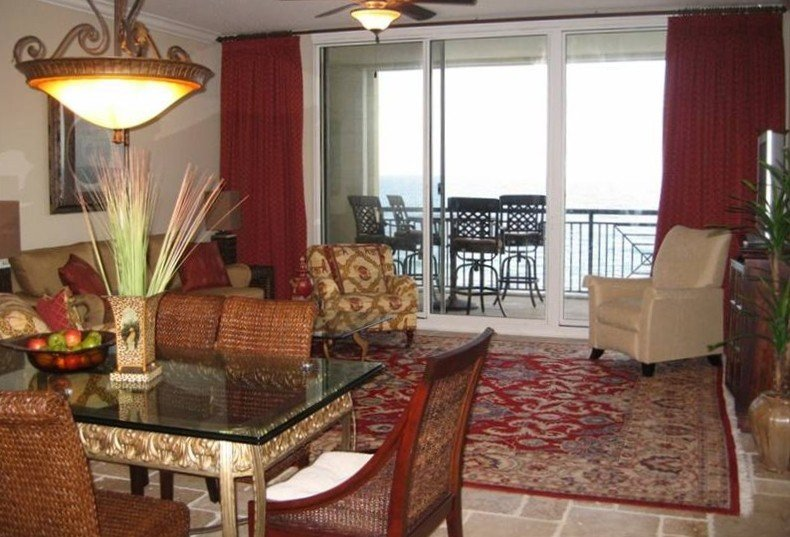 Living Room with Gulf Front balcony