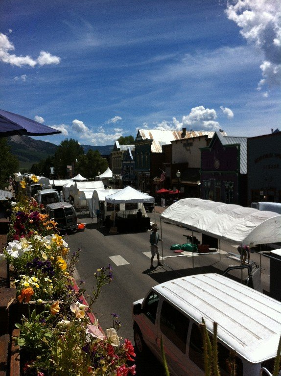 Setting up for Arts Festival in Crested Butte! Another must see!