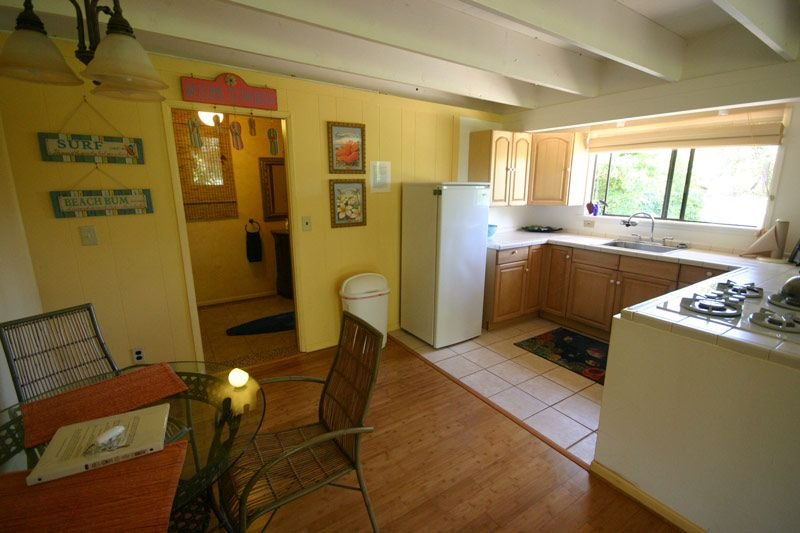 Large kitchenette with indoor/outdoor dining.