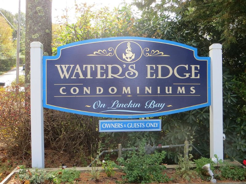 East Boothbay Waterfront One room Condo.Waterview from in side this room, holiday rental in Bayville