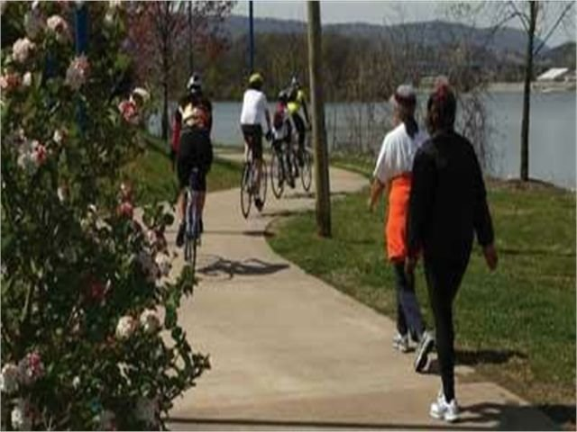 The Chattanooga Riverwalk is only 5 mins. away
