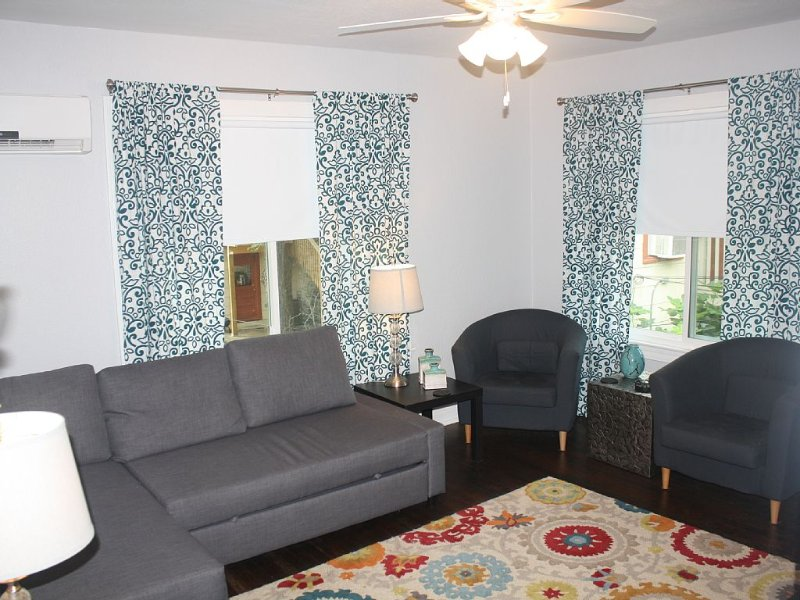 Spacious garage apartment in central historic Hyde Park, vacation rental in Austin