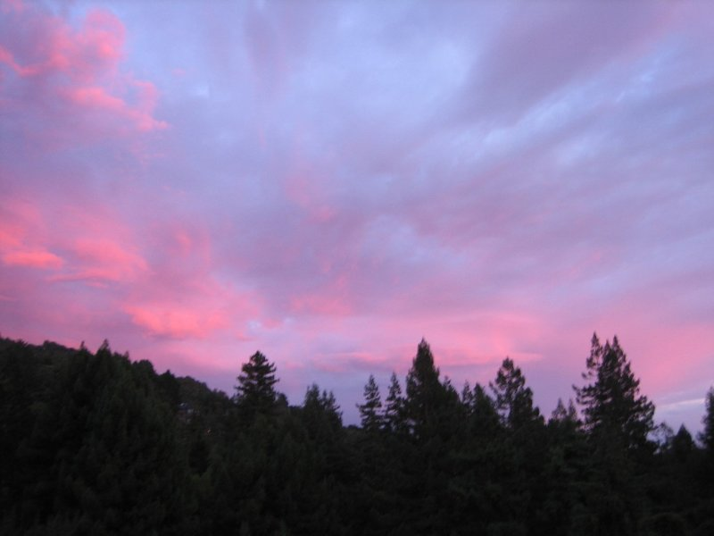 Sunset from the kitchen deck.
