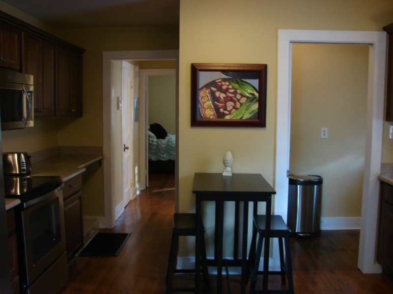 Kitchen 1322 Wellman- bdrm down hall- to left. Laundry Rm off kitchen to right