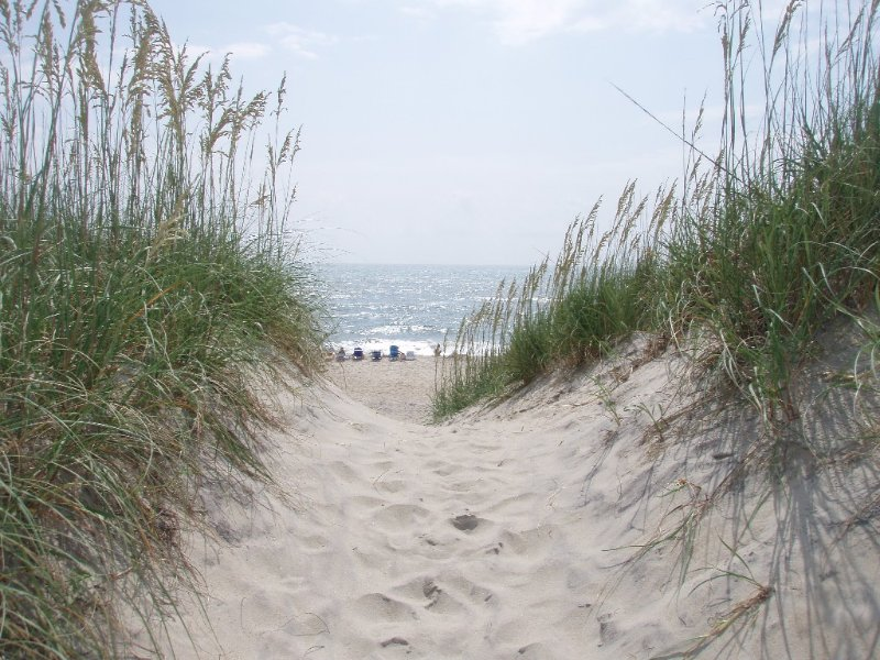 View from the beach access at the end of the road.