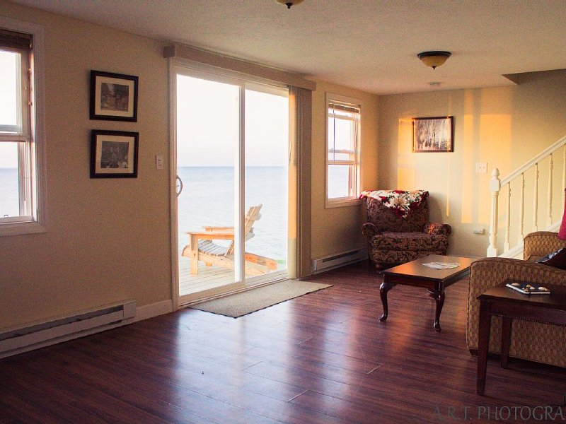 Lakefront Home Pet Friendly Steps From Winery AC Cable WiFi Firepit, holiday rental in Geneva