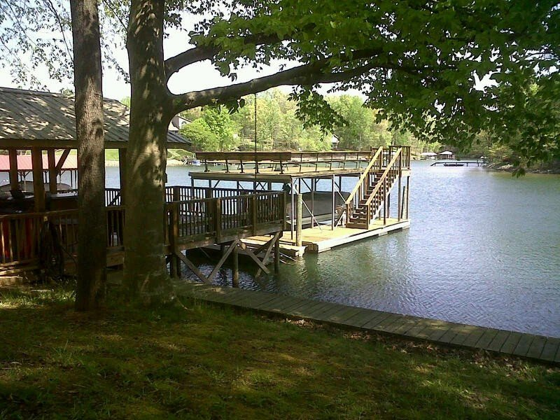 View of two story floating dock.