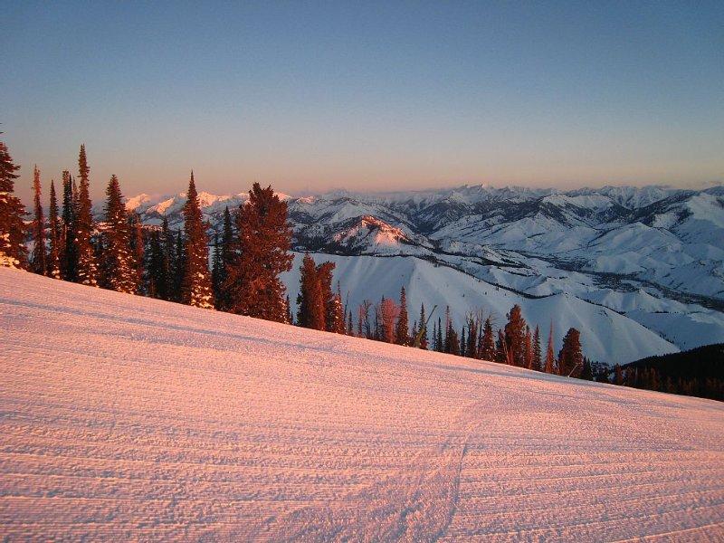 Early Winter morning on Baldy. Sun Valley Idaho, paradise on earth!
