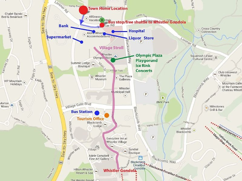 300 m from Olympic Plaza, Village Stroll, 150 m to free shuttle to the gondola