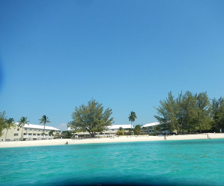 View of  our condo complex from the sea
