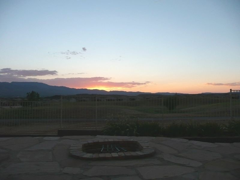 Sunset View looking west from patio