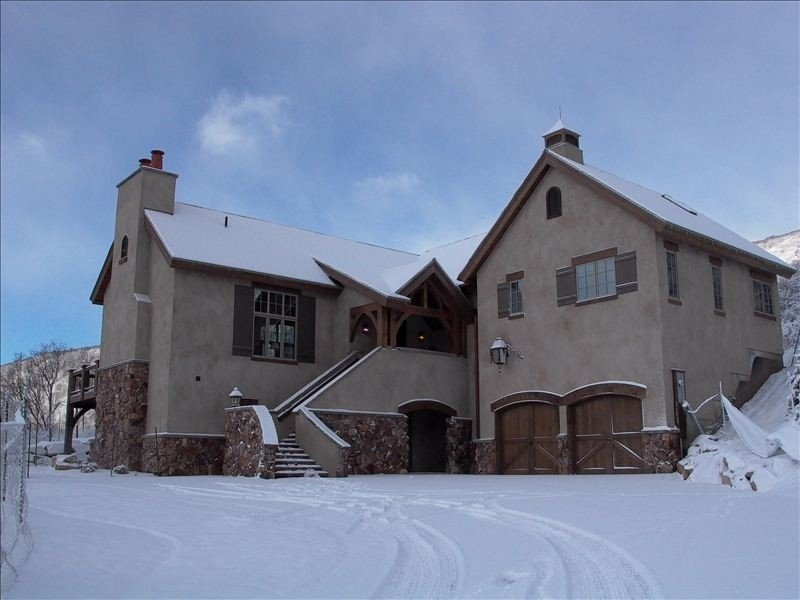 Arrival Entry, Front of home in Winter