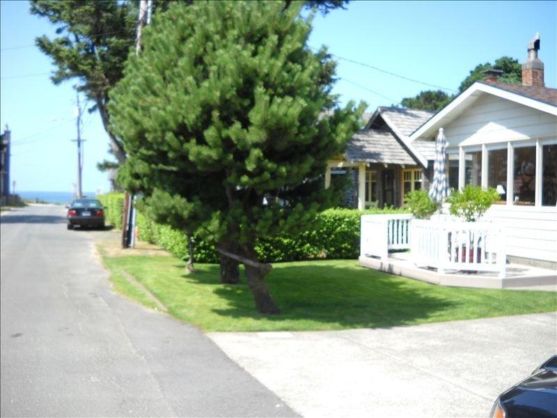 view of ocean end of street