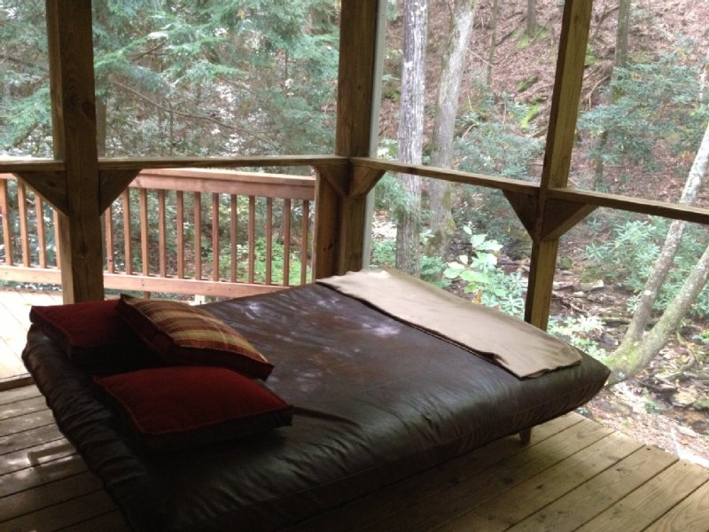 incredible creekfront sleeping porch. Most popular accommodations in lodge!