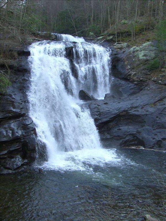 Bald River Falls nearby cabin