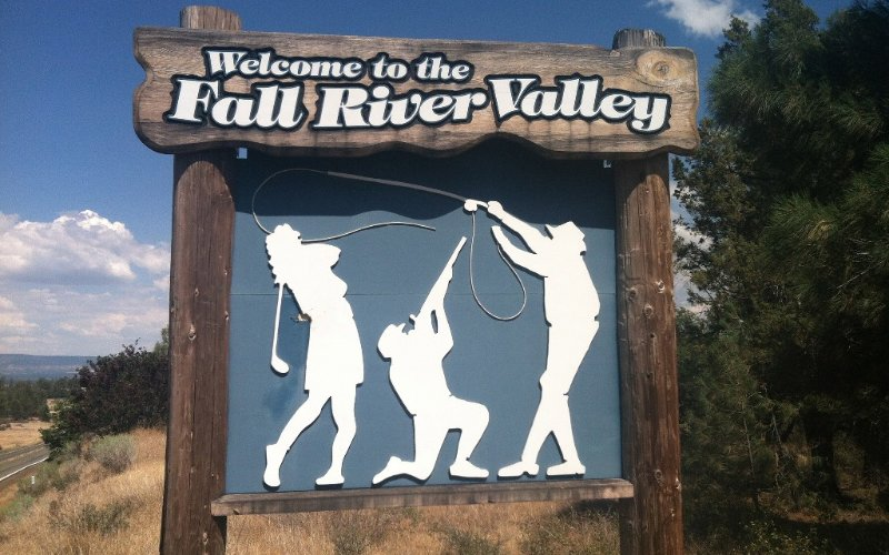 Fall River Valley is known for fishing, hunting, and golfing.