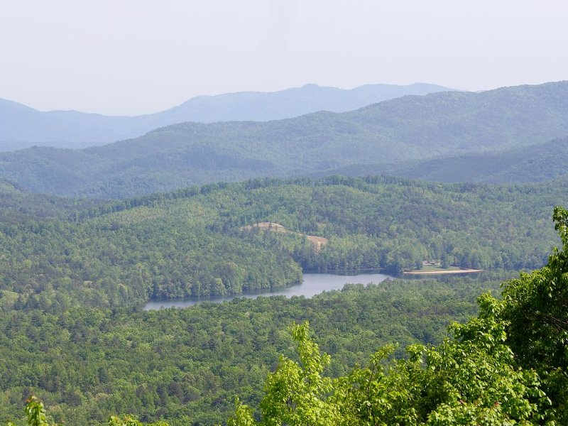 View of Indian Boundry Lake from Turkey Creek Overlook along the Cherohala