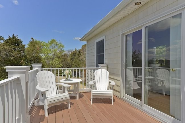second floor deck with water views
