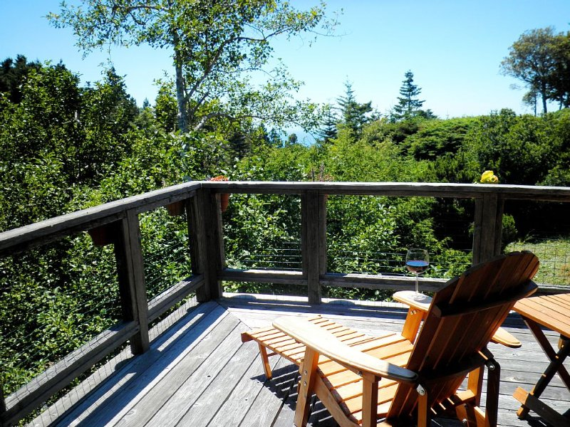 Ocean Tree House - Mountain Views, Wrap Around Balcony, Privacy and Serenity, location de vacances à Mendocino County