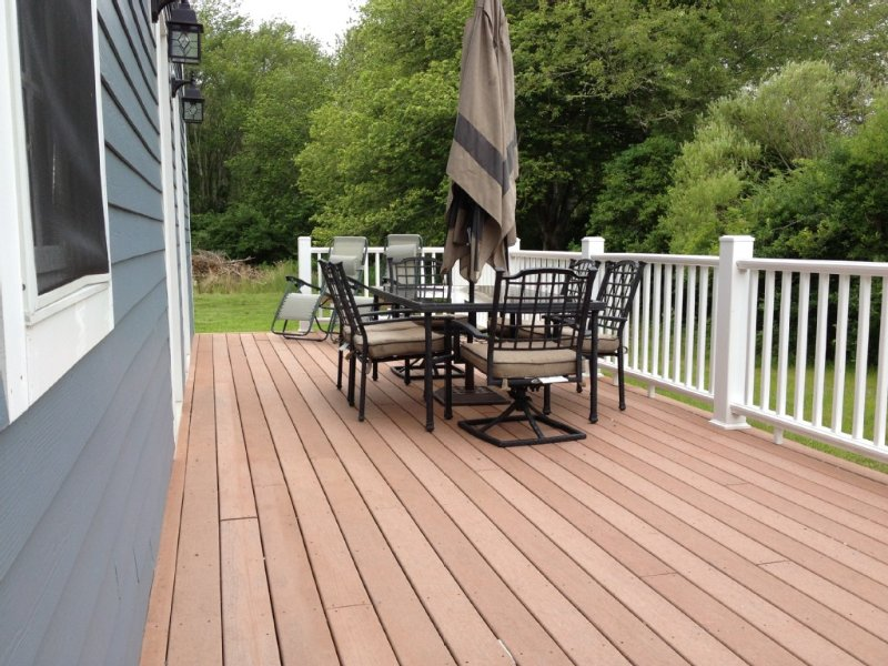 Large deck on the East side of the house