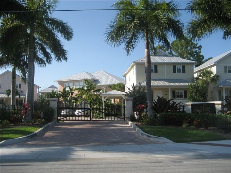 entrance to our gated community Coral Hammock