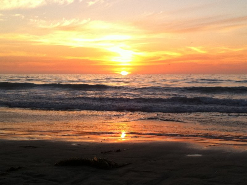 Great beach with life guard and beautiful sunsets just a block away.